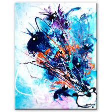 stunning abstract painting of flowers step by step art lesson and