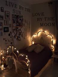 glamorous christmas lights on bedroom wall images best