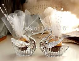 swan wedding aliexpress buy 10pieces swan wedding favor boxes gift