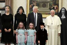 Addams Family Meme - 10 of the funniest reactions to super sad pope meeting the trumps