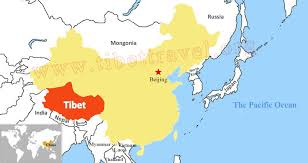 on a map where is tibet located on map of china asia and world