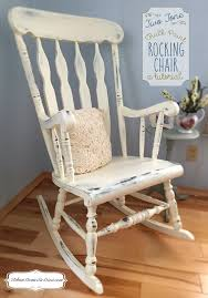 Rocking Chair For 1 Year Old Crafts How To Refresh An Old Rocking Chair With Two Tone Chalk Paint