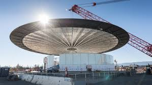 the spaceship rises a first look at apple u0027s new campus
