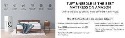 amazon black friday mattress amazon com tuft u0026 needle mattress full mattress with t u0026n