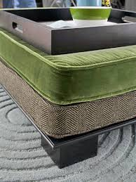 How To Make An Ottoman From A Coffee Table Make Your Own Ottoman Ottomans Diy Ottoman And Fabric Covered