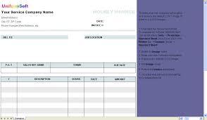 Excel Invoice Template 2003 Hourly Invoice Template Excel Invoice Sle Template