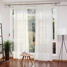 blue floral luxury beautiful yarn custom window sheer curtains