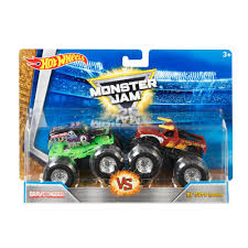 toy grave digger monster truck wheels monster jam demolition doubles 2 pack styles may vary