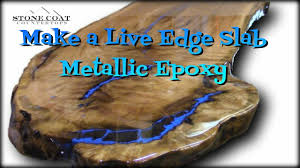 live edge river table epoxy live edge slab table how to coat and finish with blue metallic