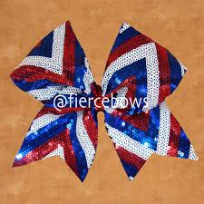 white and blue bows white and blue sequin chevron cheer bow fierce bows