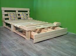 pallet platform bed with storage