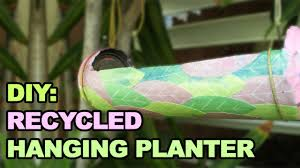 diy recycled hanging planter made out of a soda can youtube
