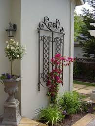 metal garden trellis arch black steel vine rose plant support