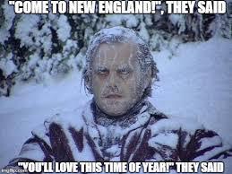New England Memes - jack nicholson the shining snow meme imgflip