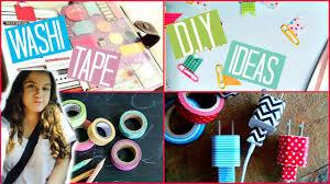 back to washi tape diy ideas youtube