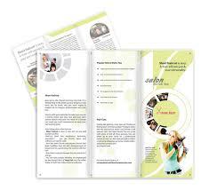 beauty and hair salon brochure template