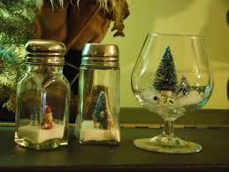 wine glass snow globes repurposed christmas decor part 2 more snow globes a