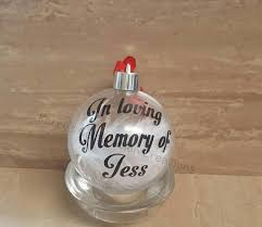 personalised memorial tree baubles name baubles