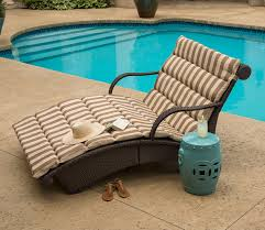 Patio Lounge Chairs Patio Outdoor Patio Lounge Chairs With Brown And White Cushions