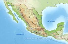 Political Map Of Mexico by Mexico Physical Map