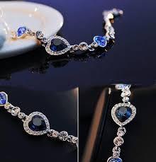 silver crystal heart bracelet images Summer style chain bracelets bangles sliver color shiny jpg
