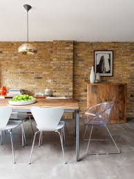 bedroom lovely dining room with exposed brick wall brick and