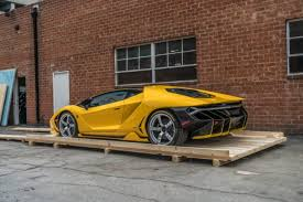 yellow lamborghini aventador for sale yellow lamborghini centenario delivered in california