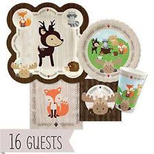 woodland creatures baby shower decorations baby shower animals party supplies ebay