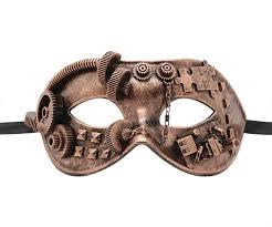 steunk masquerade mask gear puzzle copper mask