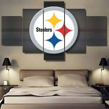 steelers home decor cool idea steelers home decor 2017 sport wall art 5 panels
