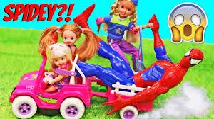 vintage barbie jeep barbie kids power wheels fail spidey takes over crazy barbie
