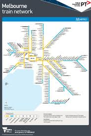 Metro Rail Map by Melbourne Metro Train Map