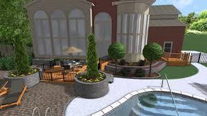 landscape design 3d digital walkthrough first draft outdoor