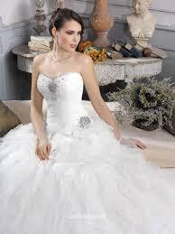 strapless drop waist organza court train princess bridal ball gown
