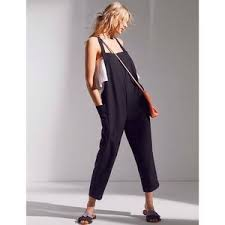 overall jumpsuit 97 outfitters bdg shapeless cropped linen