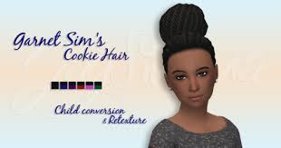sims 4 blvcklifesimz hair ts4 child hair tumblr