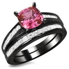 black and pink wedding ring sets black bridal sets wedding ring sets for less overstock