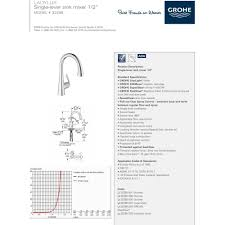 grohe 32298dc1 ladylux super steel pullout spray kitchen faucets