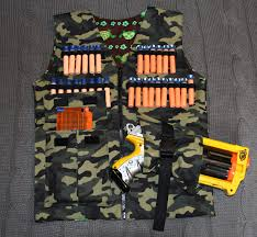 nerf battle racer gummy bears and pony tails nerf gun vest sewing for boys