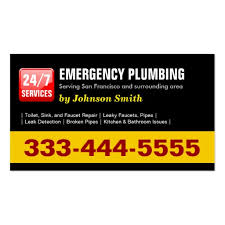 plumbing service business card business card templates bizcardstudio