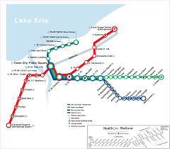 Amtrak System Map by Cleveland Metro System Map Rail U2022 Mapsof Net