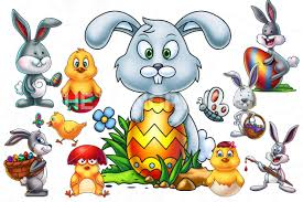 easter cartoon characters bundle by pixaroma thehungryjpeg com