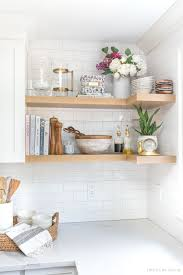 kitchen corner wall cabinet shelf the floating corner shelves in our kitchen all the details