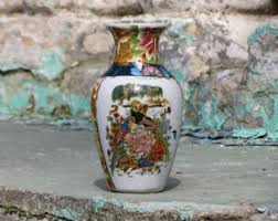 Antique Hand Painted Vases Vintage Chinese Porcelain Vase Antique Hand Painted Vase