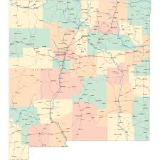 Usa Highway Map New Mexico Road Map Nm Road Map New Mexico Highway Map