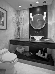 minimalist interior bathroom design with foxy vintage black and