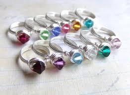Children S Birthstone Jewelry U0027s Birthstone Ring Swarovski Crystal Kids Rings Girls