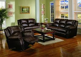 leather sofa living room dark chocolate brown bonded leather living room w recliners