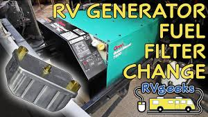 onan rv generator fuel filter replacement youtube