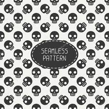 halloween polka dot background geometric hipster seamless pattern with skulls and bones wrapping